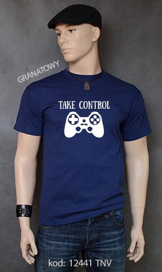 koszulka męska TAKE CONTROL kolor granatowy