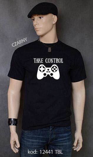 koszulka męska TAKE CONTROL kolor czarny