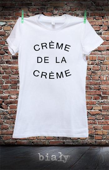 koszulka damska CREME DE LA CREME kolor biały