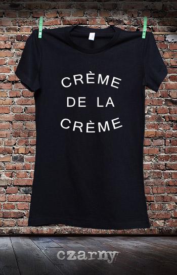 koszulka damska CREME DE LA CREME kolor czarny