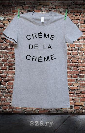 koszulka damska CREME DE LA CREME kolor szary