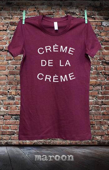 koszulka damska CREME DE LA CREME kolor maroon