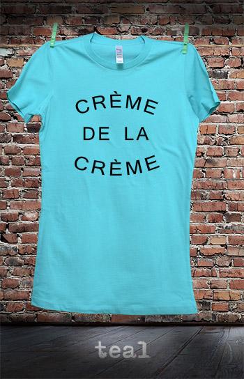 koszulka damska CREME DE LA CREME kolor teal