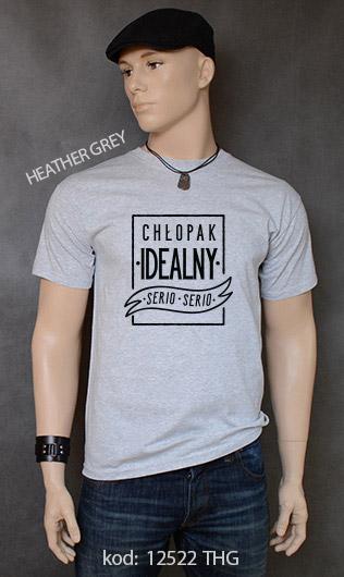 koszulka męska CHŁOPAK IDEALNY kolor heather grey