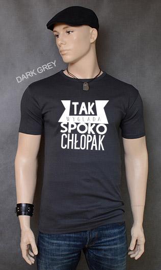 koszulka męska SPOKO CHŁOPAK kolor dark grey