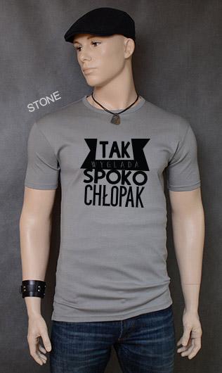 koszulka męska SPOKO CHŁOPAK kolor stone