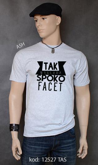 koszulka męska SPOKO FACET kolor ash
