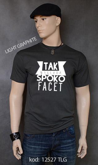 koszulka męska SPOKO FACET kolor light graphite