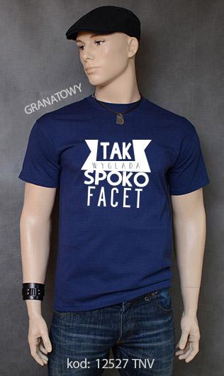 koszulka męska SPOKO FACET kolor granatowy