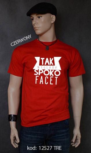 koszulka męska SPOKO FACET kolor czerwony