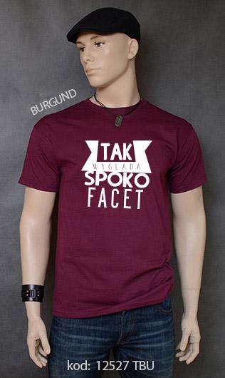 koszulka męska SPOKO FACET kolor burgund