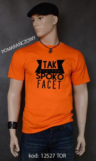koszulka męska SPOKO FACET kolor pomarańczowy