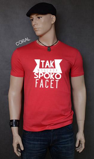 koszulka męska SPOKO FACET kolor coral