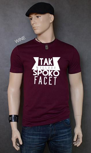 koszulka męska SPOKO FACET kolor wine