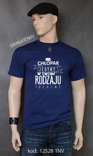 koszulka męska CHŁOPAK JEDYNY W SWOIM RODZAJU kolor granatowy