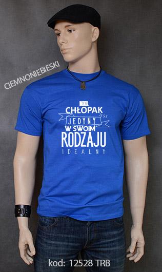 koszulka męska CHŁOPAK JEDYNY W SWOIM RODZAJU kolor ciemnoniebieski