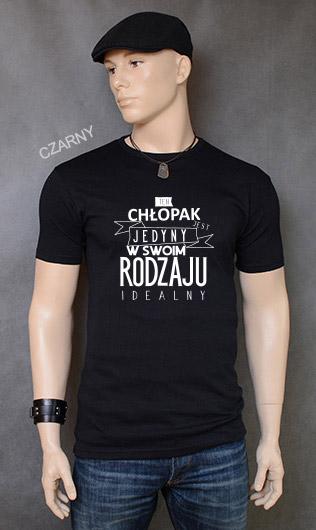 koszulka męska CHŁOPAK JEDYNY W SWOIM RODZAJU kolor czarny