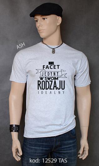 koszulka męska FACET JEDYNY W SWOIM RODZAJU kolor ash