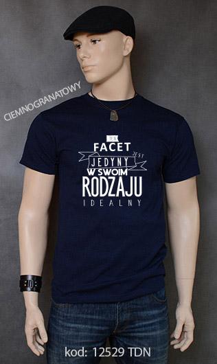 koszulka męska FACET JEDYNY W SWOIM RODZAJU kolor ciemnogranatowy