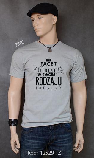 koszulka męska FACET JEDYNY W SWOIM RODZAJU kolor zinc