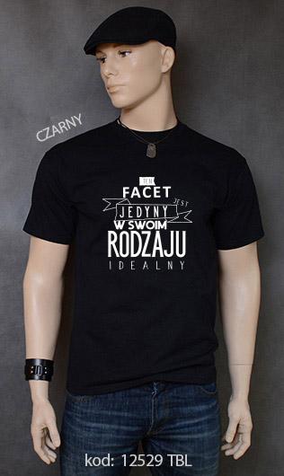 koszulka męska FACET JEDYNY W SWOIM RODZAJU kolor czarny