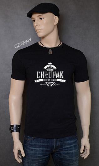 koszulka męska ZAJEBISTY CHŁOPAK kolor czarny