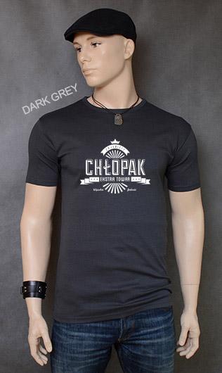 koszulka męska ZAJEBISTY CHŁOPAK kolor dark grey