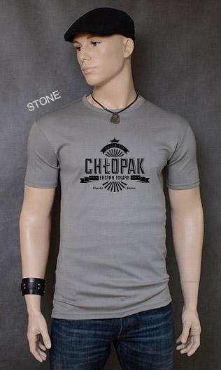koszulka męska ZAJEBISTY CHŁOPAK kolor stone